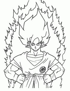 awesome Dragon Ball Z Kai Free Coloring Pages