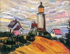 The Lighthouse, Anita Malfatti--German Expressionism startles Brazil. Modern Art, Contemporary Art, Plastic Art, Art Database, Traditional Paintings, Le Moulin, American Artists, Van Gogh, Printmaking