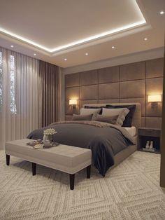 Ceiling Design Living Room, Bedroom False Ceiling Design, Master Bedroom Interior, Room Design Bedroom, Modern Master Bedroom, Bedroom Furniture Design, Home Room Design, Home Decor Bedroom, Home Interior Design