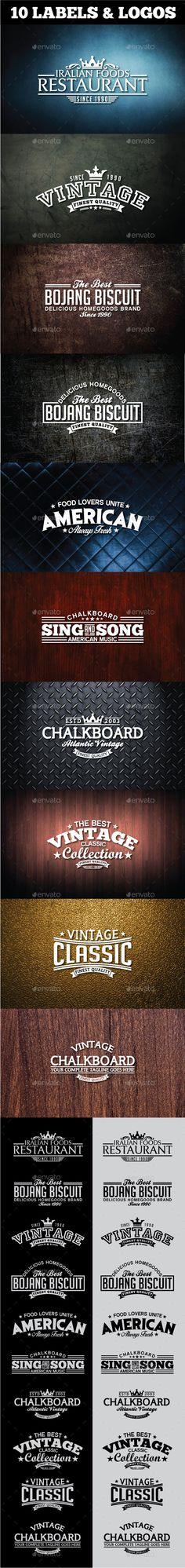 Retro Vintage Logotypes and Stickers #design Download: http://graphicriver.net/item/retro-vintage-logotypes-and-stickers/11515108?ref=ksioks