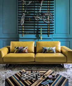 Use color to highlight existing architecture or to add interest to a room without architectural features. Need help choosing living room paint colors? Explore our gallery of Living Room Color Inspiration. Teal Rooms, Living Room Turquoise, Teal Living Rooms, Living Room Paint, Living Room Colors, Living Room Grey, Living Room Sofa, Living Room Designs, Living Room Decor