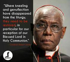 God bless you Cardinal Sarah!