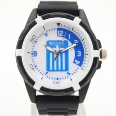Greece Souvenirs For National Soccer Team Men's Fashion Quartz Silicone Watches For Male Football Fan Products