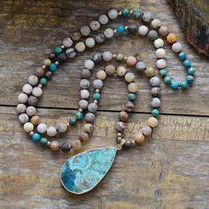 Colar Lariat, Lariat Necklace, Stone Necklace, Pendant Necklace, Necklace Ideas, Necklace Tutorial, Necklace Designs, Bohemian Necklace, Boho Jewelry