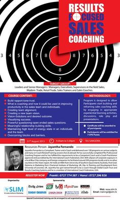 Results focused sales coaching by Jayantha Fernando