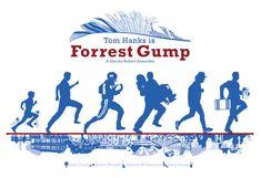 Forrest Gump 1994 inspired movie poster Run by CuteStreakDesigns
