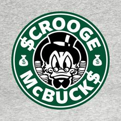 Shop Smarter than the Smarties scrooge mcduck t-shirts designed by SurefootDesigns as well as other scrooge mcduck merchandise at TeePublic. Disney Starbucks, Starbucks Logo, Starbucks Coffee, Starbucks Crafts, Uncle Scrooge, Images Disney, Custom Starbucks Cup, Disney Duck, Scrooge Mcduck