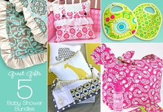 Great gifts to Give for baby showers from sew4home.