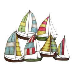 Metal Sailing Boat Decor A Perfect Nautical Decor (Dcor), Blue