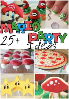 Nintendo Party Ideas - Mario Brothers party with pizza Super Mario Party, Super Mario Birthday, Mario Birthday Party, 6th Birthday Parties, Super Mario Bros, Boy Birthday, Birthday Ideas, Mario Party Games, Super Mario Cake