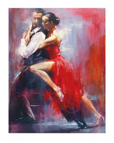 Pedro Alvarez Tango Nuevo I painting is shipped worldwide,including stretched canvas and framed art.This Pedro Alvarez Tango Nuevo I painting is available at custom size. Tanz Poster, Tango Art, Inspiration Artistique, Tango Dancers, Dance Paintings, Argentine Tango, Salsa Dancing, Ballroom Dance, Oeuvre D'art
