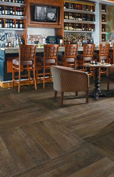 The SpeakEasy has the look and feel of true timeworn American hardwood with the high-proof strength of Porcelain Stone®.
