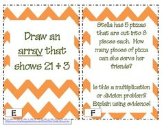 Multiplication and Division Strategies Around the Room: Grade Common Core Aligned from Math Rotations, Math Centers, First Year Teaching, Teaching Math, Math Classroom, Classroom Ideas, Division Strategies, Math Helper, 3rd Grade Activities