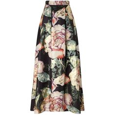 Miss Selfridge Floral Print Maxi Skirt (610 BRL) ❤ liked on Polyvore featuring skirts, bottoms, saias, assorted, maxi skirts, floral maxi skirt, floral printed skirt, floor length skirt and miss selfridge
