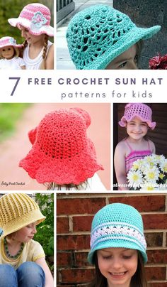 Crochet Beanie Design These adorable crochet sun hat patterns for kids are a perfect quick crochet project for summer! Crochet Toddler Hat, Crochet Baby Blanket Beginner, Crochet Summer Hats, Crochet Kids Hats, Quick Crochet, Crochet Girls, Crochet Baby Booties, Free Crochet, Learn Crochet