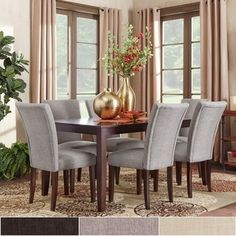 Pranzo Rectangular Tapered Leg 66-inch Extending Dining Table and Dining Set by TRIBECCA HOME