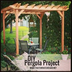 DIY pergola project I want a pergola over the patio off the kitchen