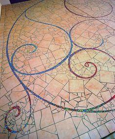 How To Lay Broken Tile Pinterest Mosaics Tile