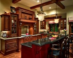 Traditional Kitchen - LOVE this, but with dark espresso wood instead