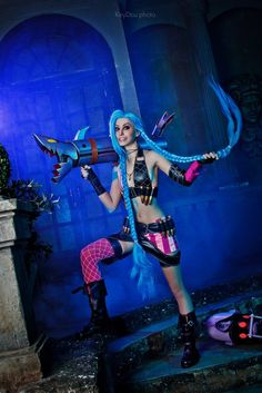Jinx cosplay League of Legends by Manyasha