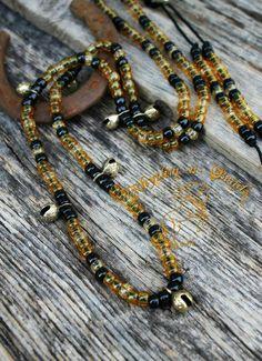 Natural horsemanship rhythm bead necklaces for horses by Rhythm-n-Beads