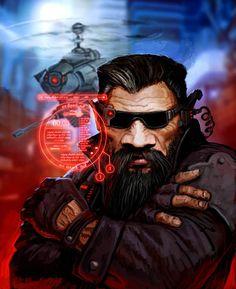 Shadowrun   Dwarf   Hacker   Rigger   Drone   Augmented Reality   shadowrun Dwarf 2 by Perun-Tworek on deviantART