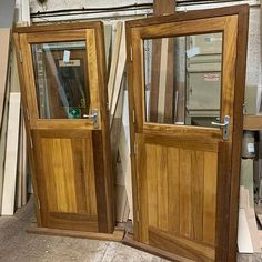 Iroko tongue and groove stable doors ready to go out Tongue And Groove, Stables, China Cabinet, Armoire, Oil, Doors, Storage, Furniture, Home Decor