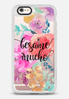 Besame Mucho - New Standard Case in Clear and Clear by @rubyridgestudio | @Casetify