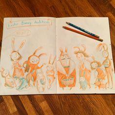 Мой должок. Очередь на роль Пасхального зайчика для нашего марафона #денькрокодила  that's my queue for the role of Easter Bunny for our drawing marathon. #детскаяиллюстрация #иллюстрация #творчество #рисуйкаждыйдень #arts_help #art_we_inspire #topcreator #sketchbook #childrenillustration #drawingoftheday