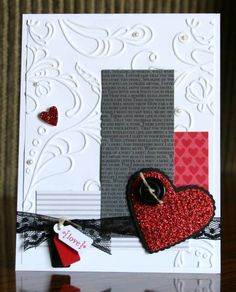Stampin' Celebration Hearts/embossing