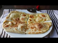 Focaccia di Recco - Rustic Cheese-Filled Italian Flatbread from Chef John at Food Wishes on YouTube.