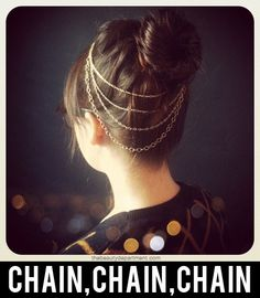 Hair chain, hair necklace, whatever you call it it's a sparkly and pretty addition to a bun or top knot! xo