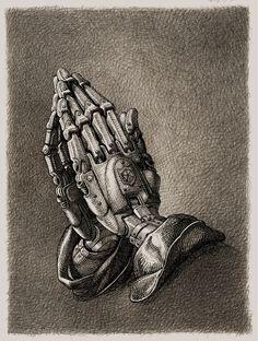 Fragments of a Hologram Dystopia Hand Kunst, Cyberpunk Kunst, Arte Robot, Robot Concept Art, Desenho Tattoo, Arte Horror, Foto Art, Hand Art, Sci Fi Art