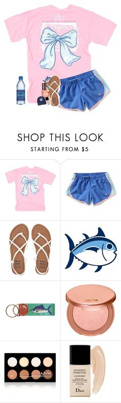 """""""Fishing Contest Entree"""" by southernmermaid ❤ liked on Polyvore featuring NIKE, Billabong, Southern Tide, tarte, NYX and Christian Dior"""