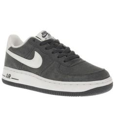 Nike Grey Air Force 1 Boys Youth The 80s basketball sneaker proves that timeless design never goes out of fashion, as it arrives for present day looking slick in grey suede. Downsized for stylish kids, the Nike Air Force 1 is complet http://www.MightGet.com/january-2017-13/nike-grey-air-force-1-boys-youth.asp