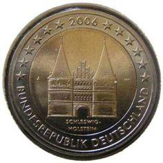 """Moneta commemorativa Schleswig-Holstein: """"Holstentor di Lubecca"""" Anno: 2006 Stato: Germania"""