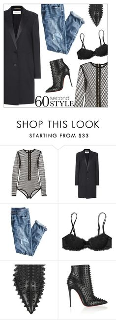 """60-Second Style: What's Your View?"" by danielle-487 ❤ liked on Polyvore featuring Balmain, Yves Saint Laurent, J.Crew, Victoria's Secret PINK, Christian Louboutin, DRAKE, views and 60secondstyle"