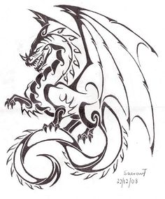A dragon tattoo design I want to get :)