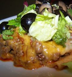 Lucy's Diabetic Friendly Low Carb Meals: Beef Enchilada Pie-i will use ground turkey instead