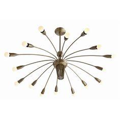 Arteriors Home Valdez 16L Vintage Brass Adjustable Arm Chandelier - Arteriors Home 89666 #Arteriors Chandelier