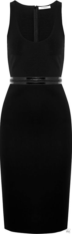 Givenchy ● Black stretch crepe dress