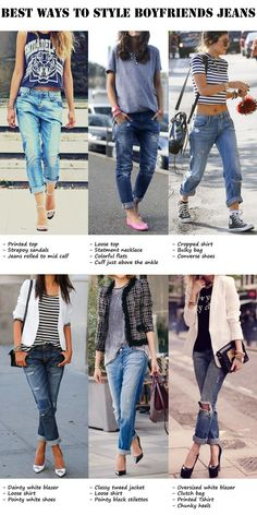 How to style boyfriend jeans? How to style boyfriend jeans with a blazer. What to wear with loose jeans.