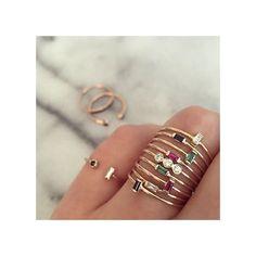 14k horizontal sapphire baguette ring