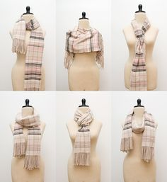various ways to wear a scarf