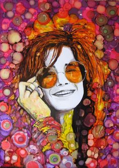 "ARTFINDER: Psychedelic Janis by raffaella bertolini - As part of my "" Icons "" series, a portrait of the great Janis Joplin .Janis rose to fame in the late 1960s and was known for her powerful, blues-inspired voc..."