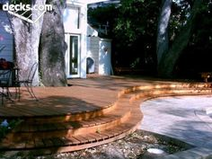 Stained curved deck, like the board look here..?