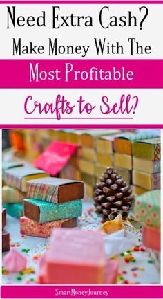 Most Profitable Crafts To Sell Revealed. Let us show which crafts to make and sell to make the most profit for your craft business. Crafts To Make And Sell, Sell Diy, Handmade Crafts, Easy Crafts, Handmade Ideas, Handmade Jewelry, Earn More Money, How To Make Money, Diy Household Tips