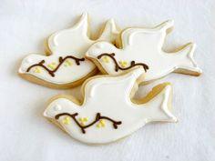 Peace dove cookies