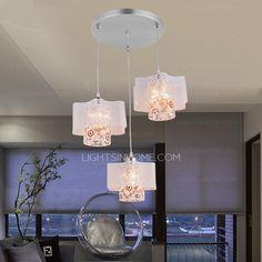 3 Light Silver Beautiful Style Hanging Pendant Light Hanging Pendants, Pendant Lights, Chandelier, Ceiling Lights, Beautiful, Silver, Home Decor, Style, Swag
