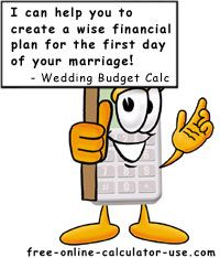 Wedding Budget Calculator  Get The Online Wedding Budget Tool
